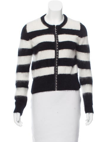 Cardigan Angora Cardigan Angora Striped Striped R7qwRY