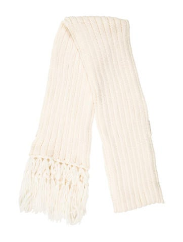D&G Chunky Rib Knit Wool Scarf None