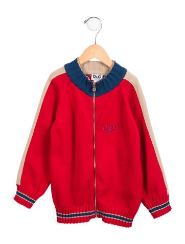 D&G Boys' Colorblock Logo Cardigan None