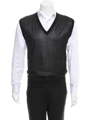 D&G Knit V-Neck Vest None