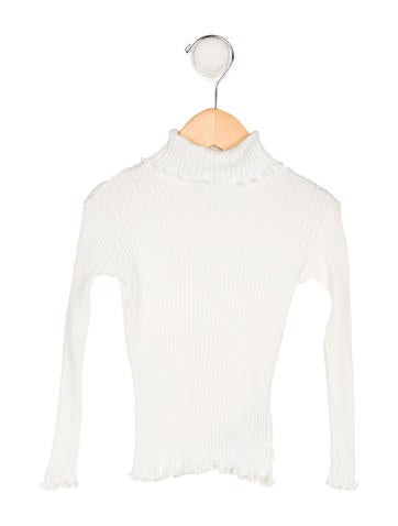 D&G Girls' Knit Turtleneck Top None