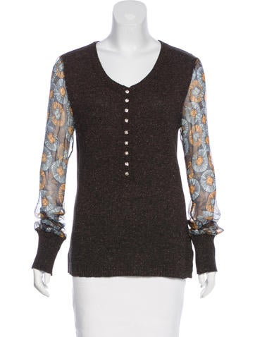 D&G Embellished Long Sleeve Top None