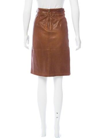 D&G Leather Knee-Length Skirt Cheap Authentic sSDLLz9uIK