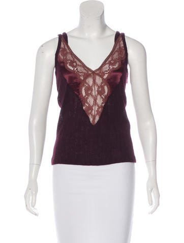 D&G Lace-Trimmed Knit Top w/ Tags None