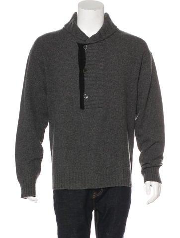 D&G Wool Shawl Collar Sweater None