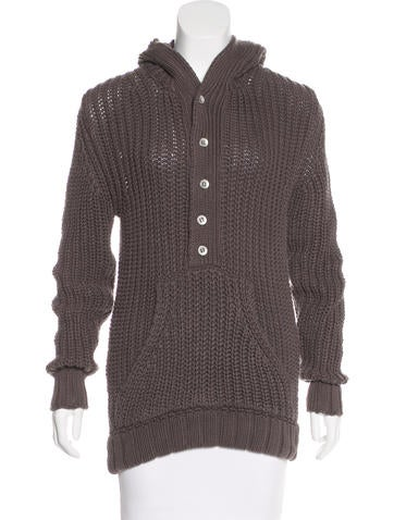 D&G Hooded Pullover Sweater None