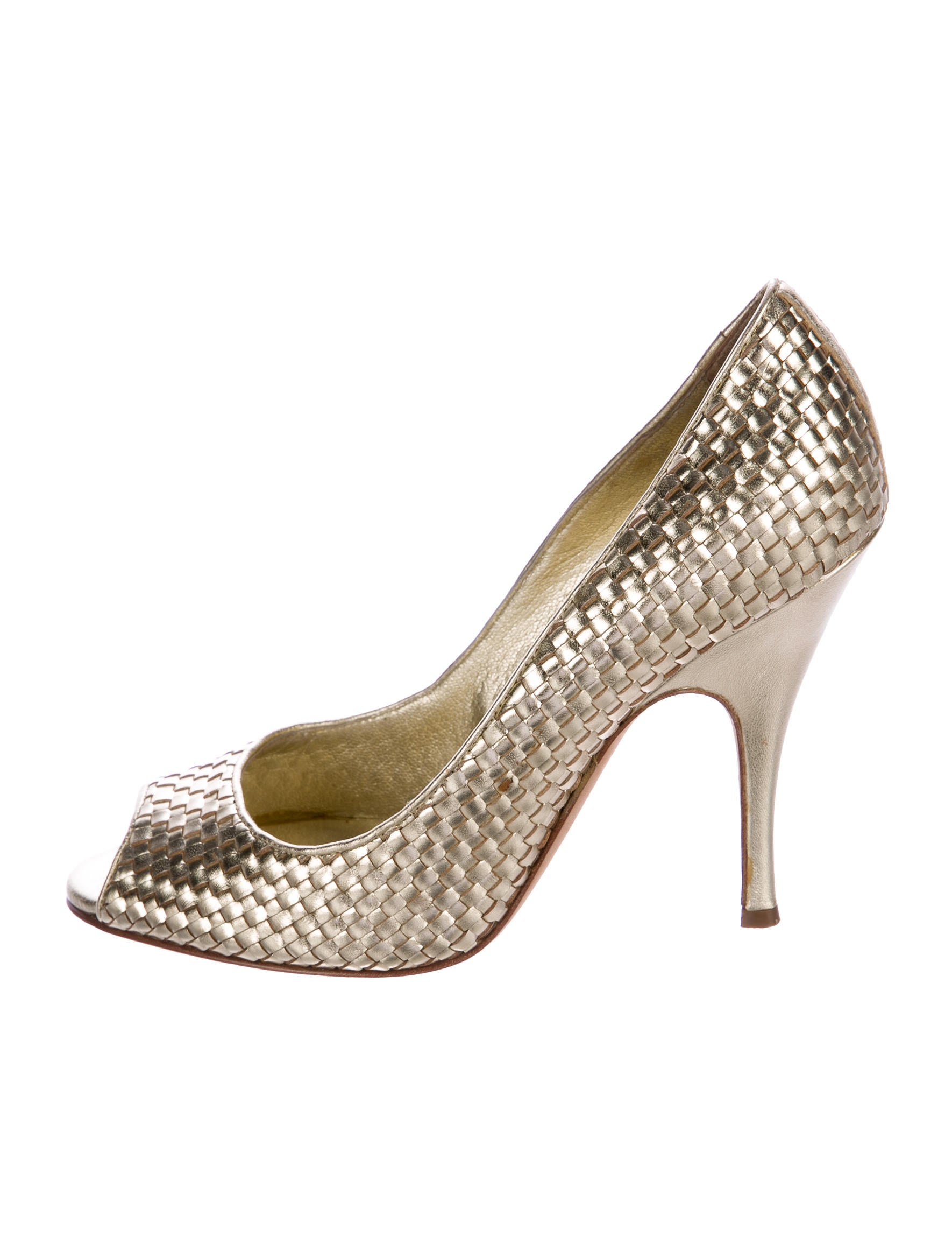 D&G Metallic Leather Pumps from china online cheap 2015 sale how much sale get authentic iGdDHO