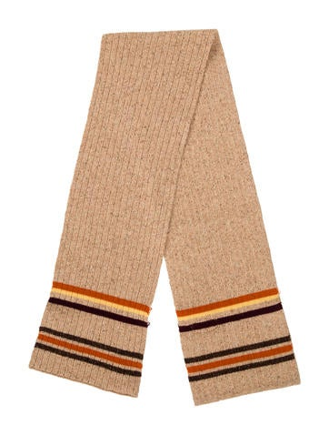 D&G Kids' Wool-Blend Stripe-Trimmed Scarf None