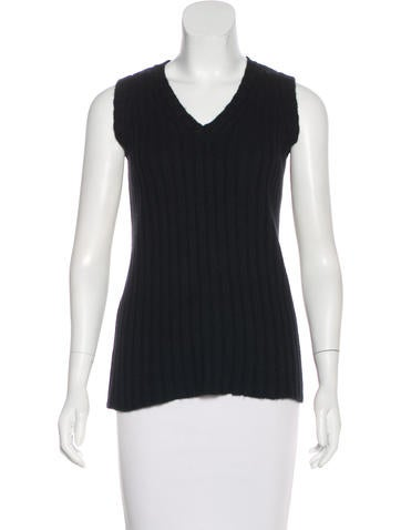 D&G Sleeveless Rib Knit Top None