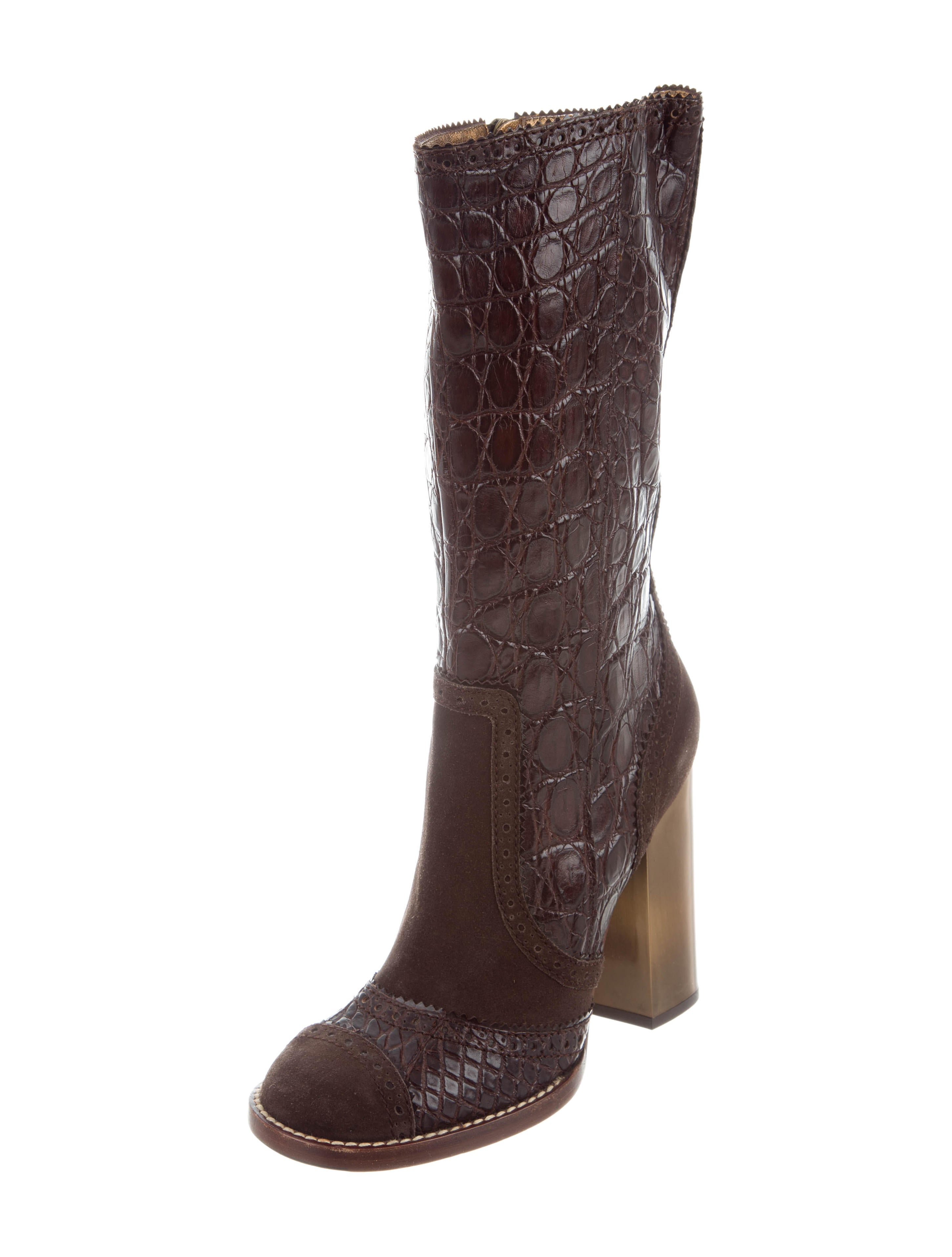 outlet pick a best D&G Crocodile Mid-Calf Boots outlet 2014 newest clearance discount z3mASjjmT