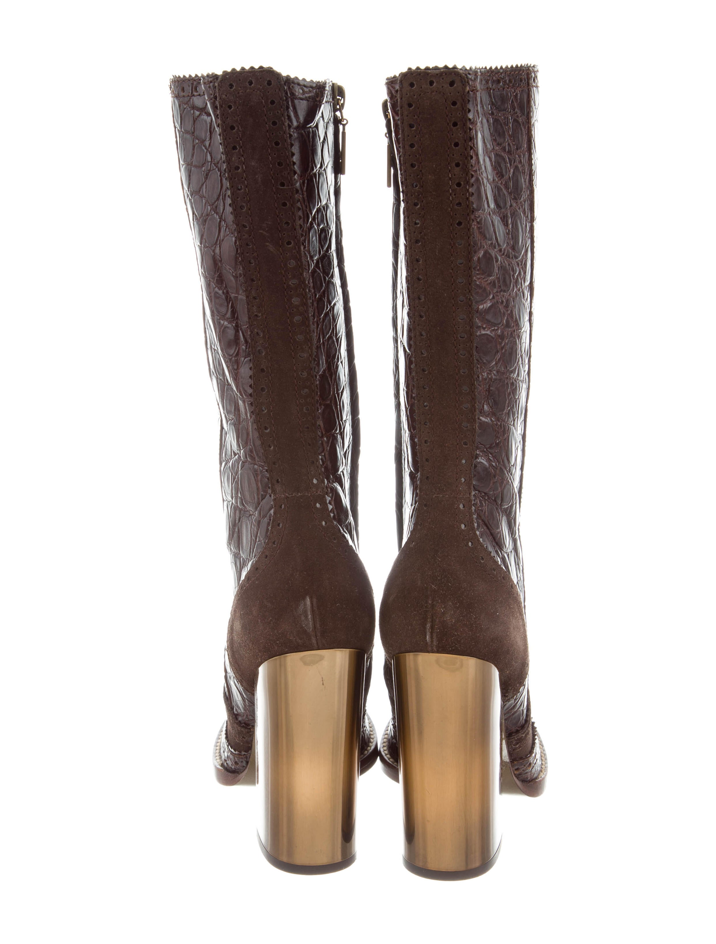 D&G Crocodile Mid-Calf Boots sale new arrival free shipping latest free shipping authentic wholesale price cheap online buy cheap best place AwuqYzQb