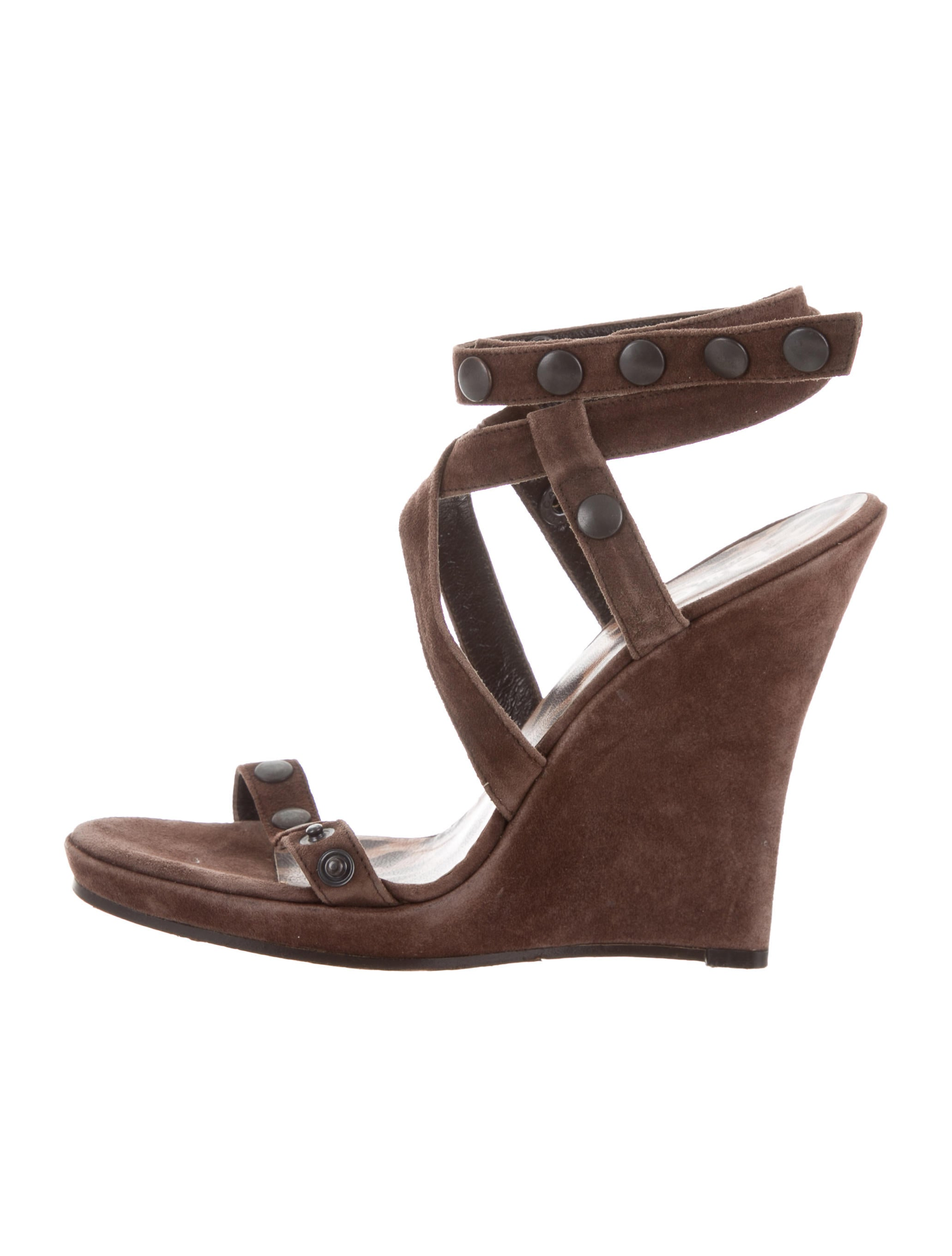 low shipping fee for sale D&G Suede Wedge Sandals exclusive cheap price sale eastbay from china free shipping low price cheap looking for 0TBnc