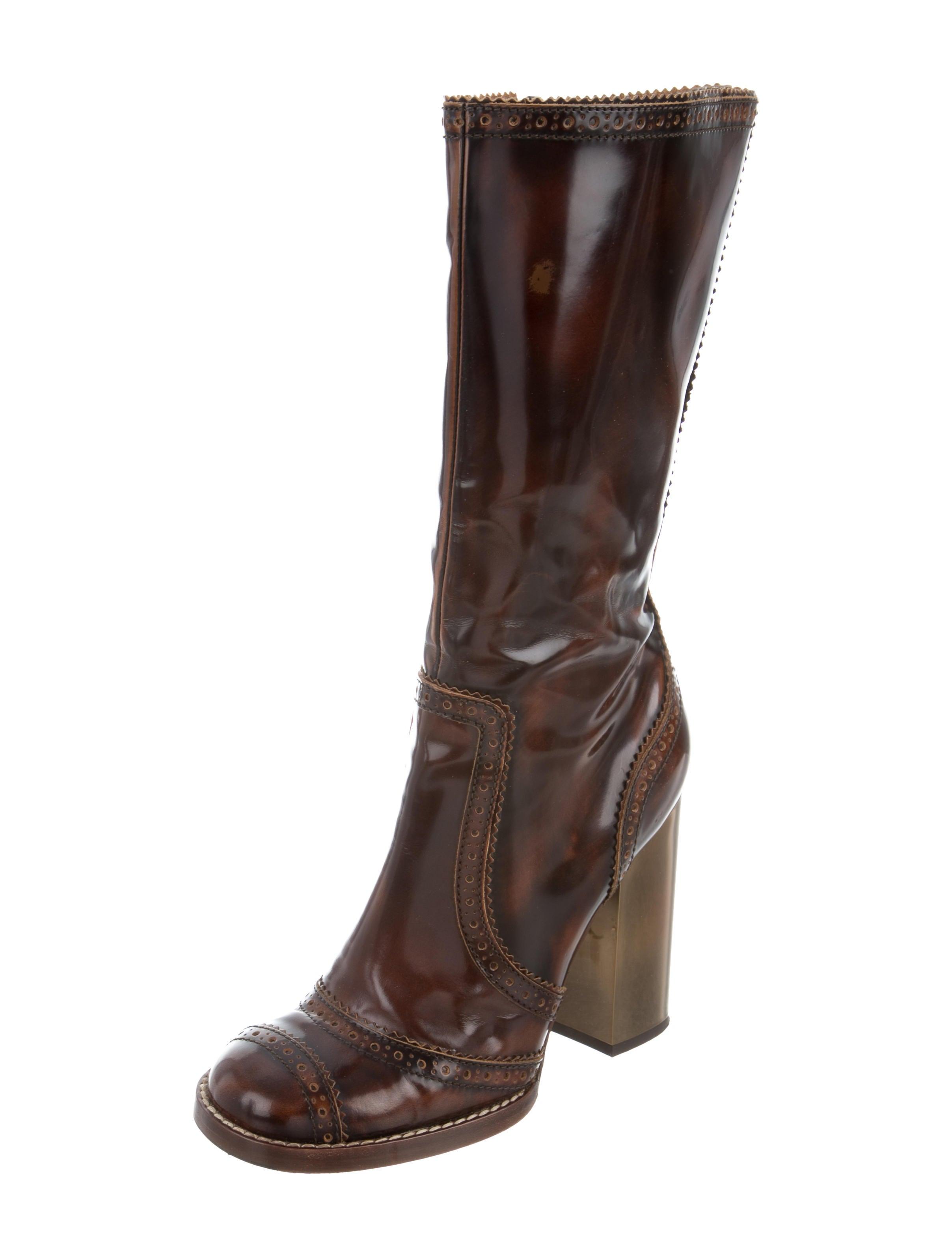 free shipping sale online D&G Brogue Mid-Calf Boots discount huge surprise sale very cheap F4H00NJ7e