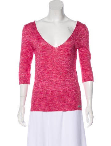 D&G V-Neck Knit Top w/ Tags None