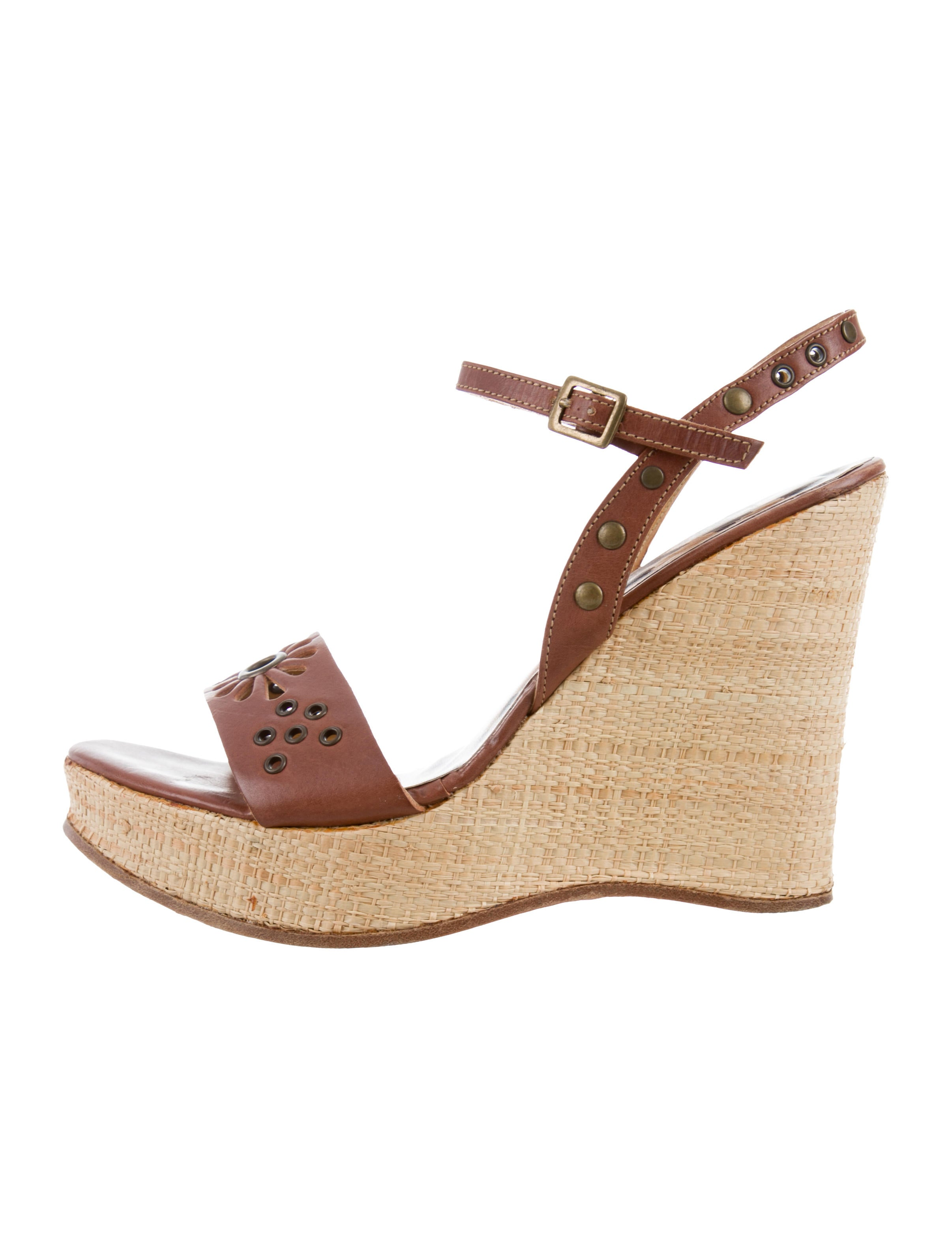 D&G Leather Wedge Sandals low cost online Md83q7m