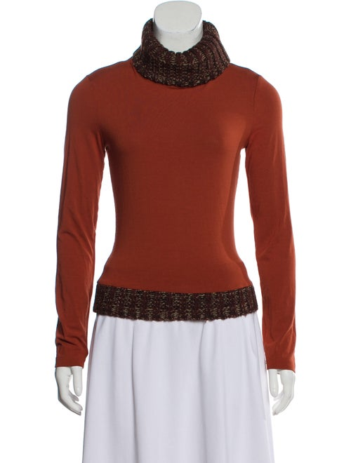D&G Turtleneck Long Sleeve Top Brown