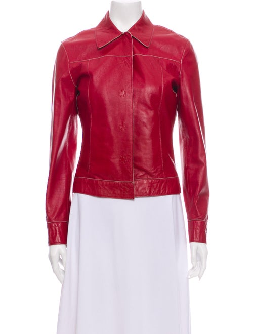 D&G Leather Jacket Red