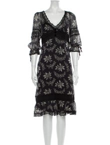 D&G Printed Midi Length Dress