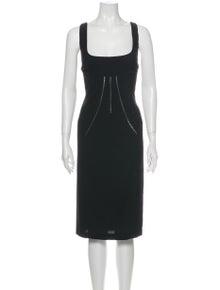 D&G Square Neckline Midi Length Dress