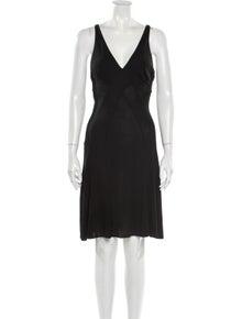D&G V-Neck Knee-Length Dress