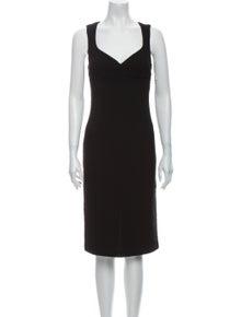 D&G V-Neck Midi Length Dress
