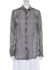 D&G Silk Animal Print Button-Up Top w/ Tags