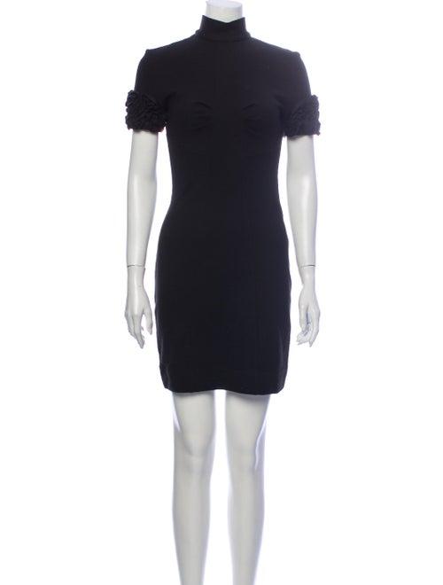 D&G Turtleneck Mini Dress Black