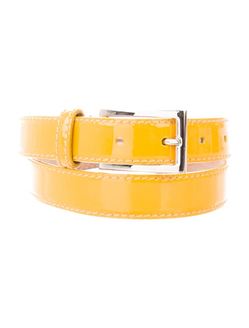 D&G Patent Leather Hip Belt Yellow