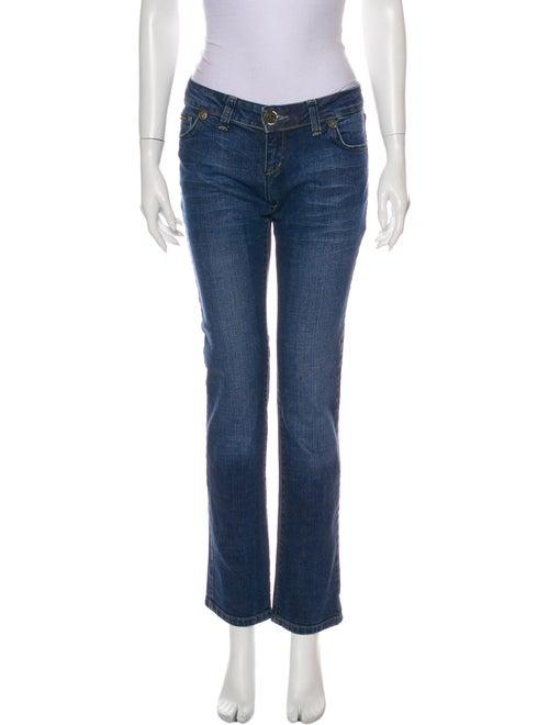 D&G Low-Rise Straight Leg Jeans Blue