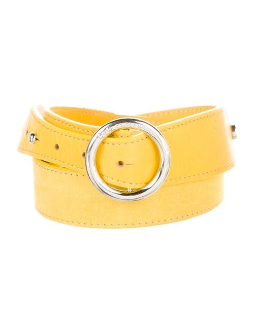 D&G Leather Hip Belt Yellow