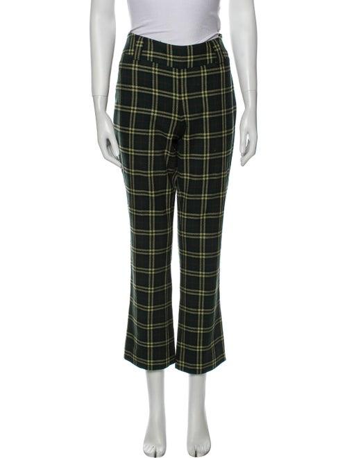 D&G Plaid Print Straight Leg Pants Green - image 1