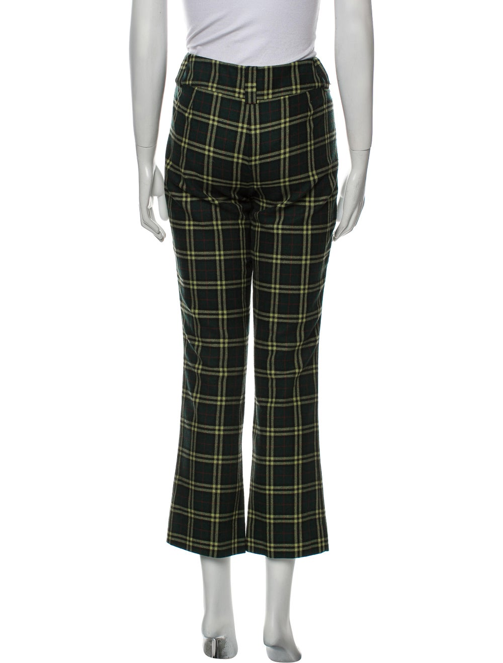 D&G Plaid Print Straight Leg Pants Green - image 3