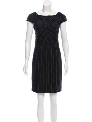 Diane von Furstenberg Pinstripe Helen Dress None