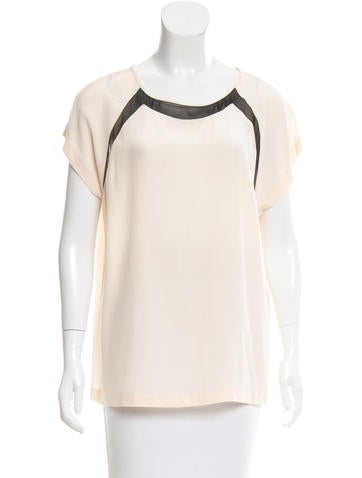 Diane von Furstenberg Silk Short Sleeve Top None