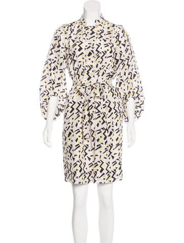 Diane von Furstenberg Bairly Louche Silk Dress None