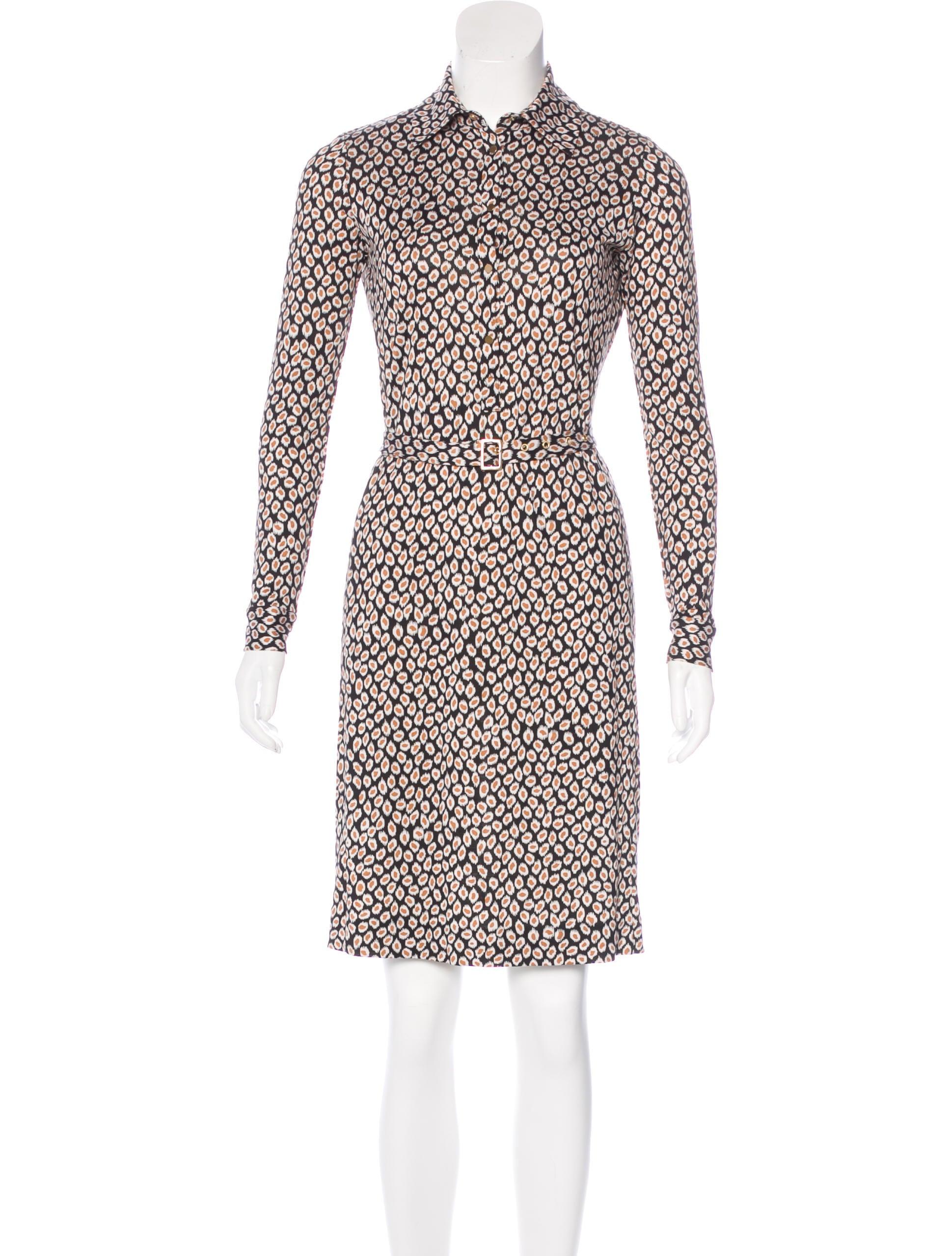 Diane von furstenberg marcie silk dress clothing for Diane von furstenberg shirt