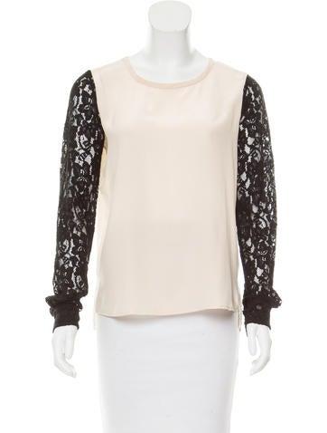 Diane von Furstenberg Silk Long Sleeve Top None