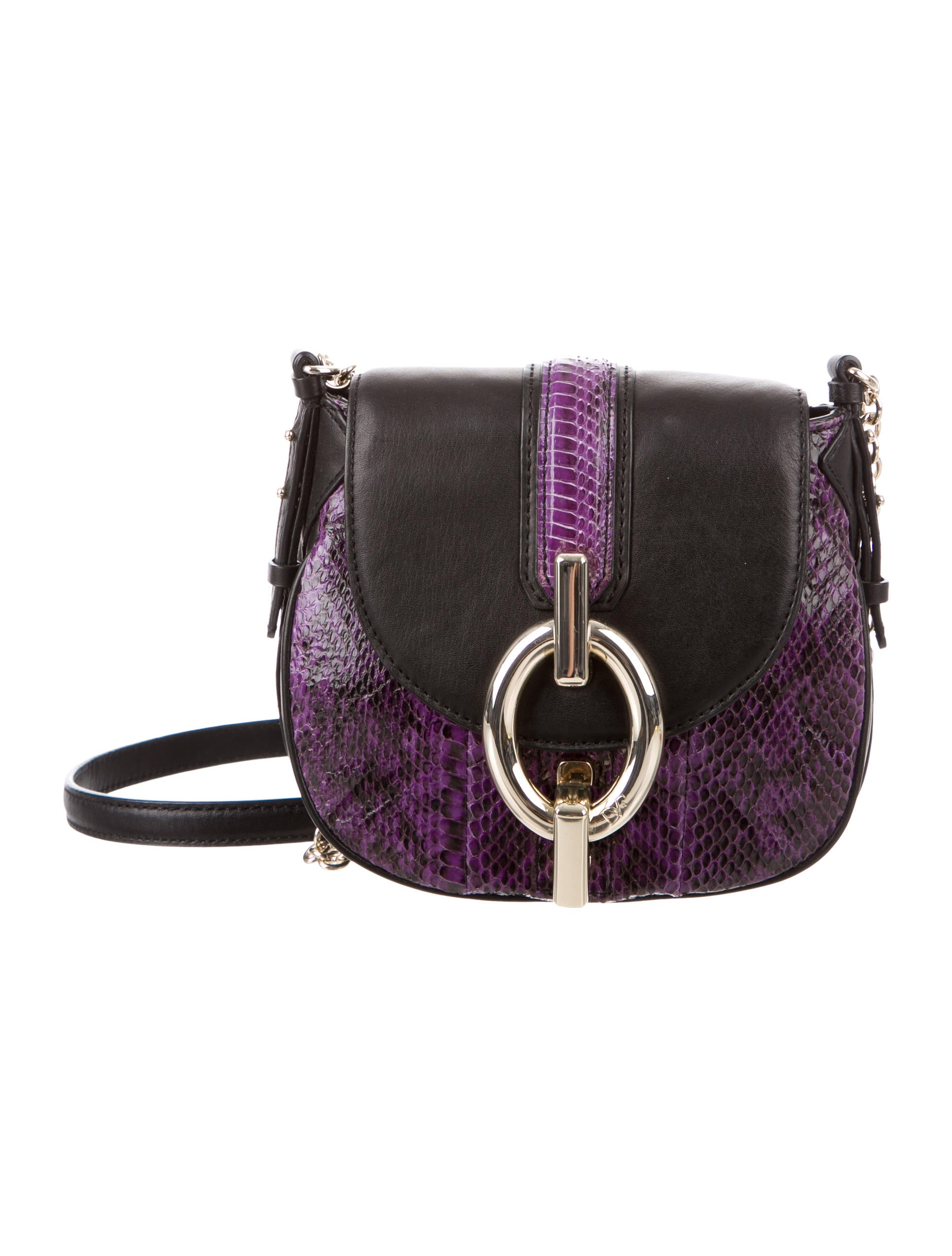 9806f2f7e0ca Diane von Furstenberg Mini Sutra Snakeskin Crossbody - Handbags ...
