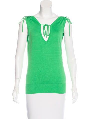 Diane von Furstenberg Silk Knit Top None