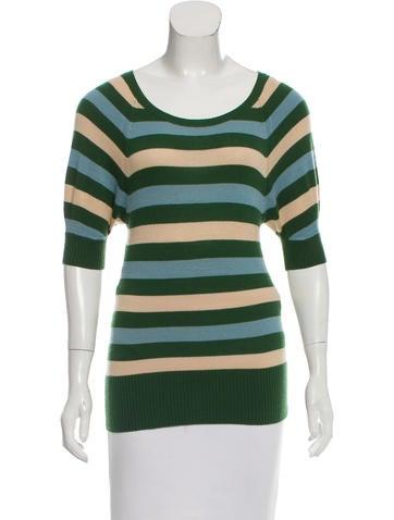 Diane von Furstenberg Striped Cashmere Top None
