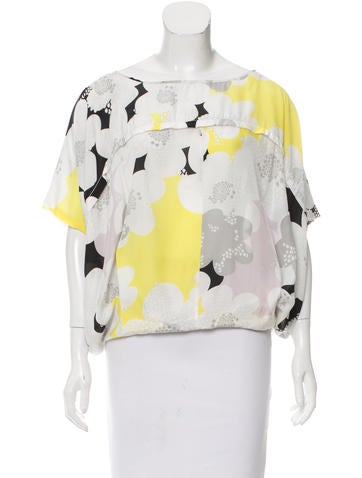 Diane von Furstenberg Landy Silk Top None