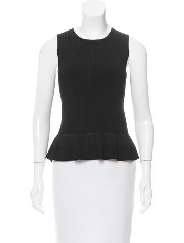 Diane von Furstenberg Sleeveless Knit Top None