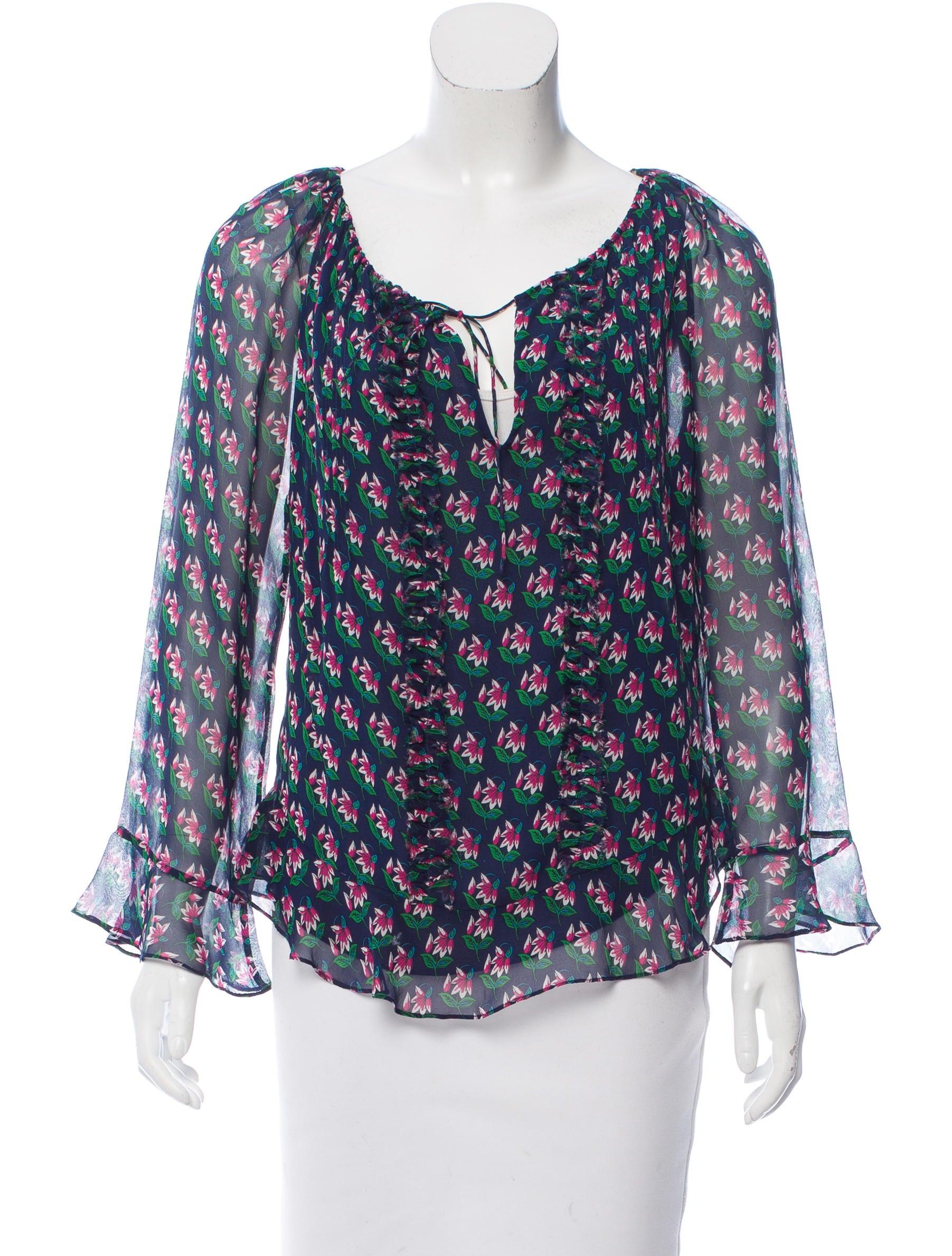Diane von furstenberg silk ruffled blouse clothing for Diane von furstenberg shirt