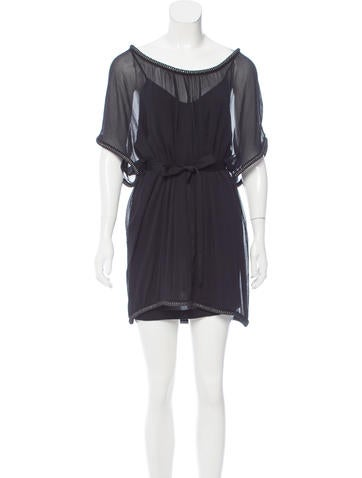 Diane von Furstenberg Embellished Chiffon Dress None
