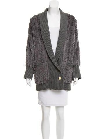 Diane von Furstenberg Fur-Accented Cashmere Sweater None