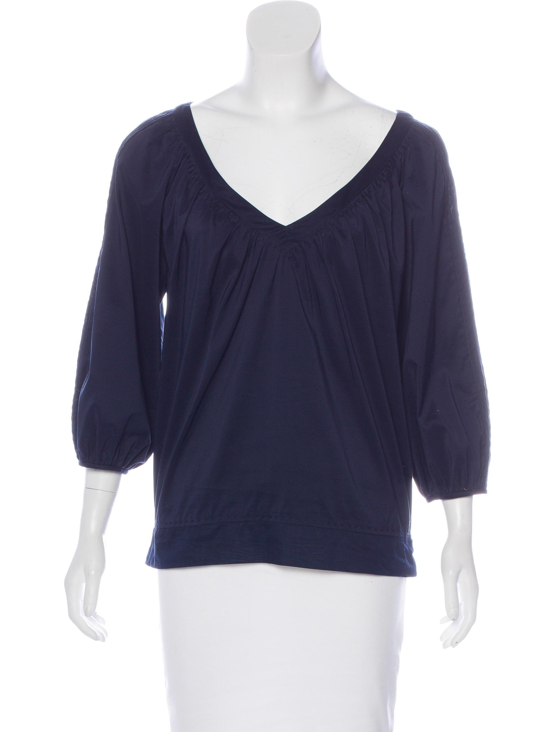 Diane von furstenberg holden pleated blouse clothing for Diane von furstenberg shirt