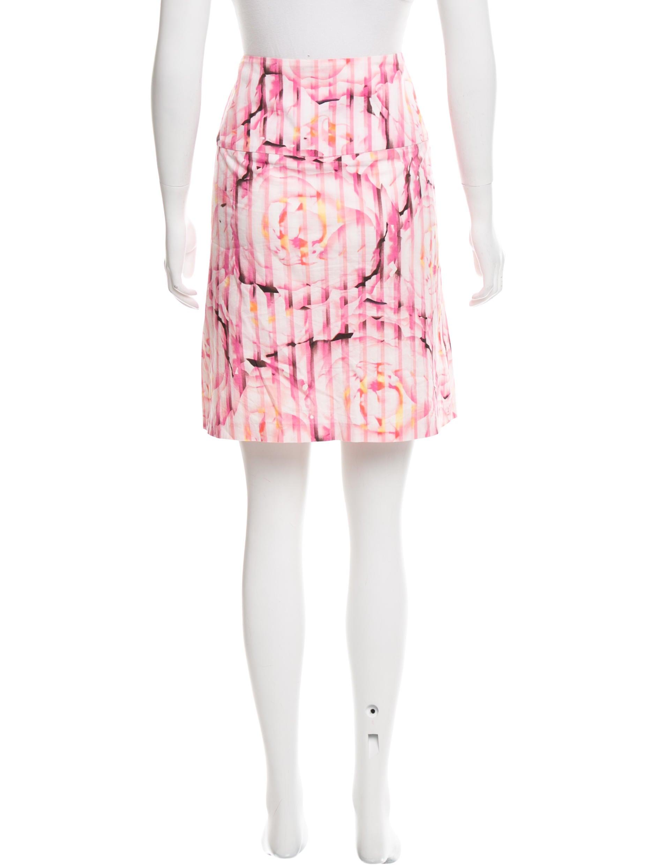 diane furstenberg floral knee length skirt clothing