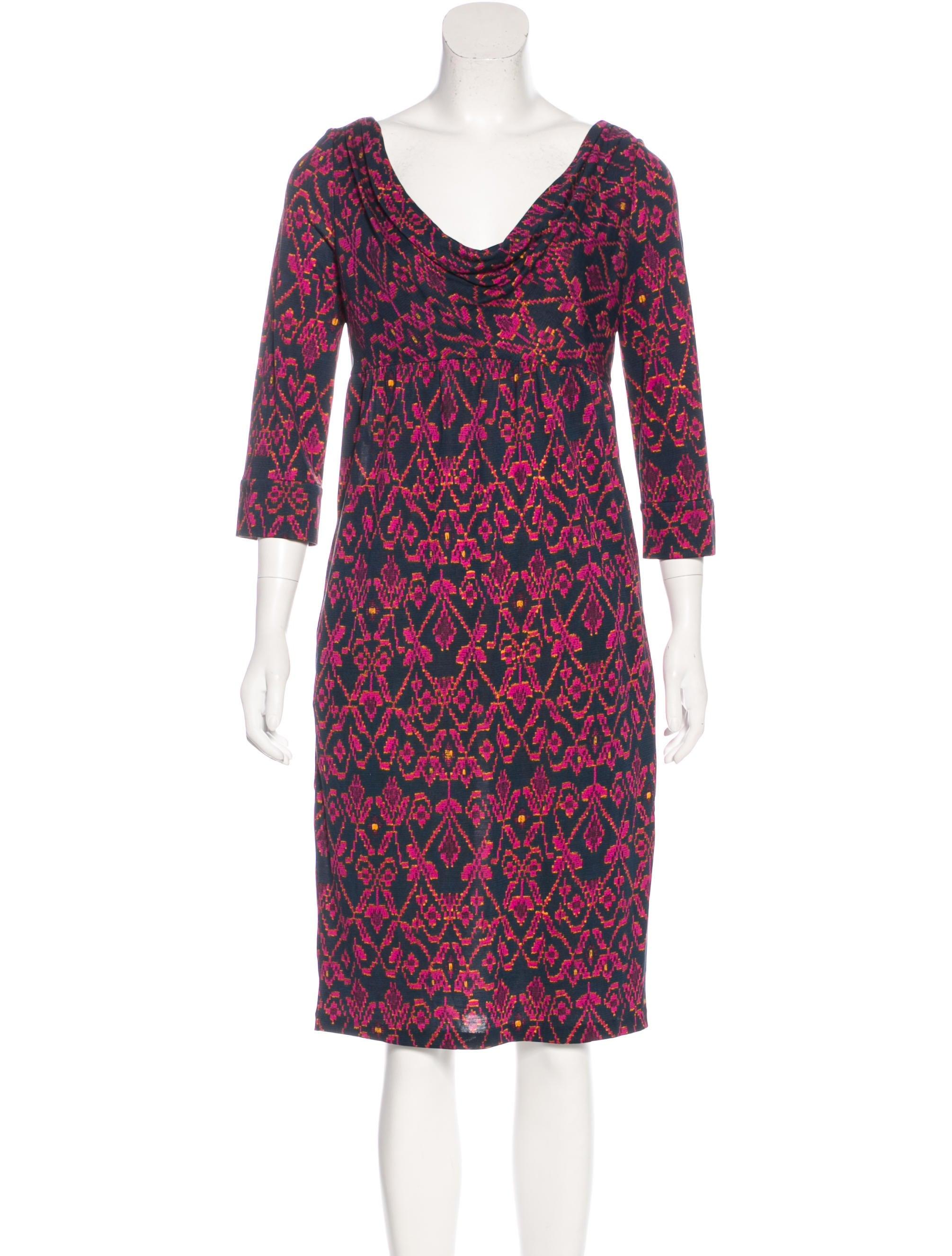 Diane von furstenberg silk jersey knee length dress for Diane von furstenberg shirt