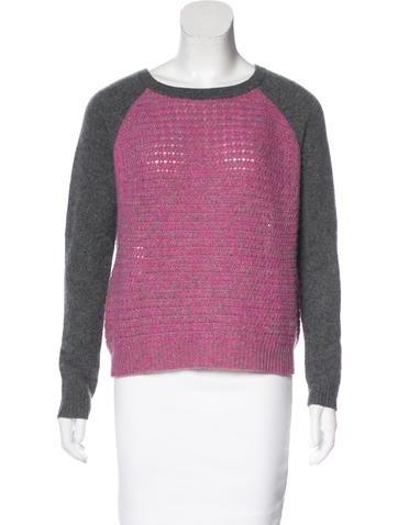 Diane von Furstenberg Cashmere Raglan Sweater None