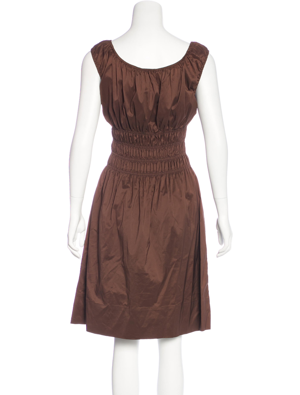 Diane von furstenberg shirred a line dress clothing for Diane von furstenberg shirt